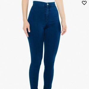 American Apparel Blue high waist jeans